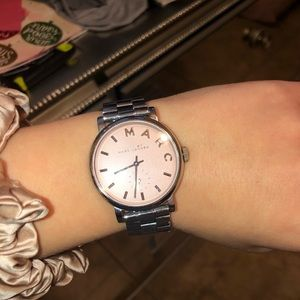 Marc Jacobs Silver Watch with Pink face